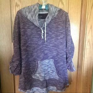 Calvin Klein purple athletic top size XL